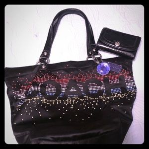 Coach tote w/matching wallet